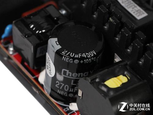 (图片来自京东商城) 先马金牌500w电源采用了钛金牌专用的llc谐振 dc2