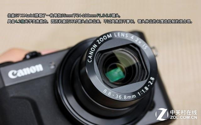佳能 G7 X Mark II  镜头配备